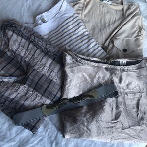 5 for $25 Bundle Madewell JCrew TopShop tops belt